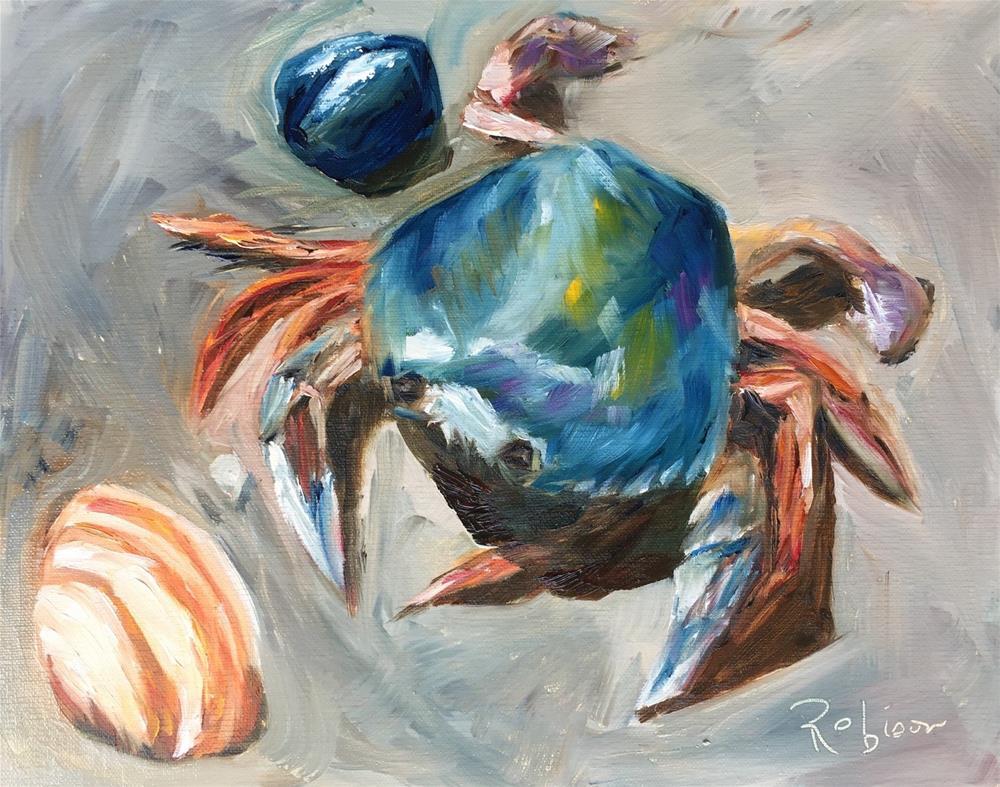 """""""Beach Crab"""" original fine art by Renee Robison"""