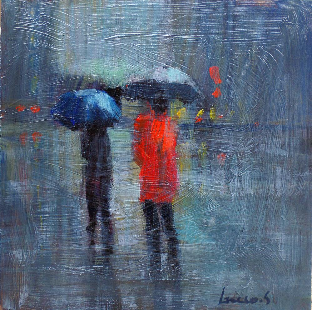 """""""Mainy day in new york"""" original fine art by salvatore greco"""