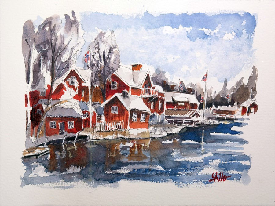 """2682 Christmas Land 06"" original fine art by Dietmar Stiller"