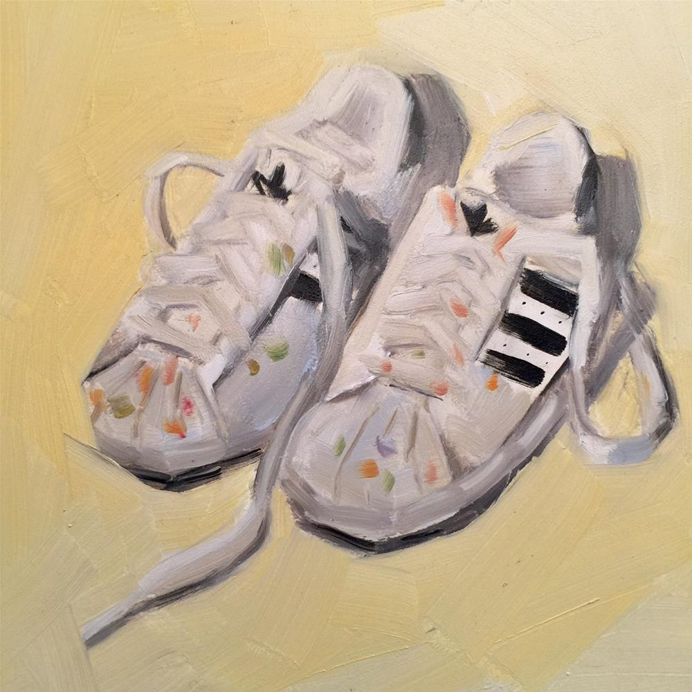 """422 About Shoes"" original fine art by Jenny Doh"