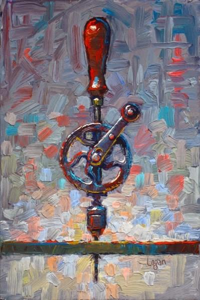 """My Ben Hur Hand Drill"" original fine art by Raymond Logan"