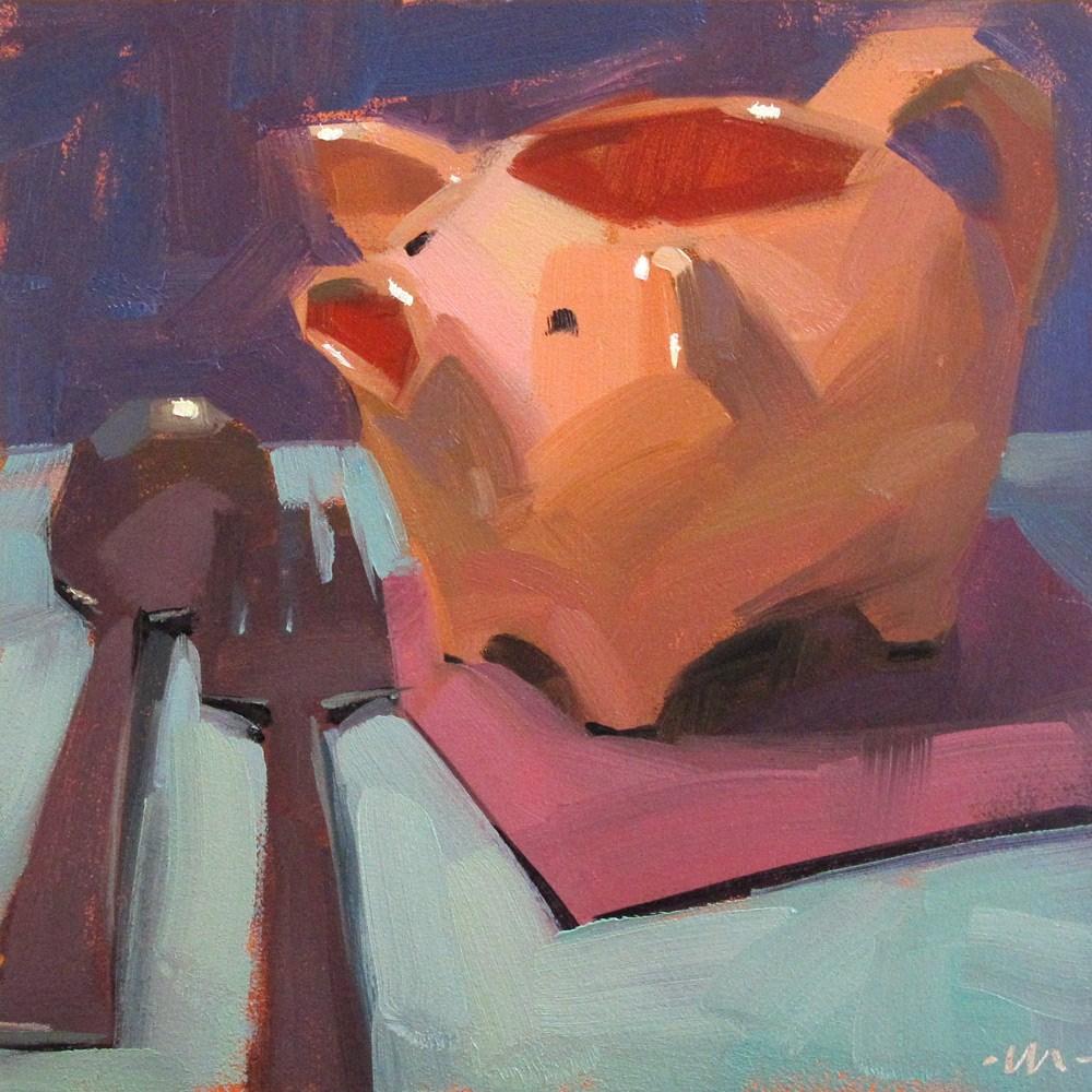 """""""Intervention"""" original fine art by Carol Marine"""