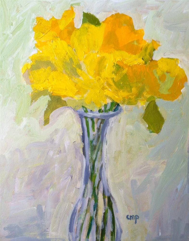 """Daffodils"" original fine art by Christine Parker"
