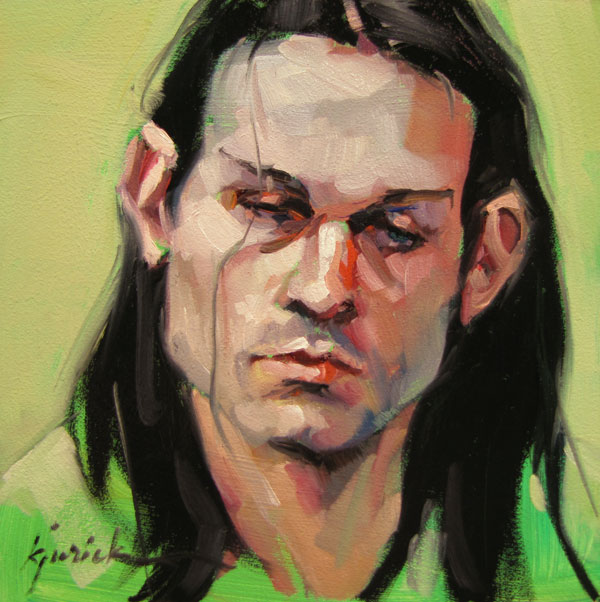 """100 Faces, No. 77"" original fine art by Karin Jurick"