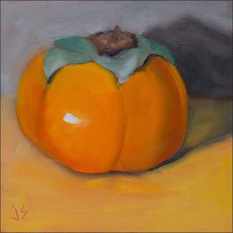 """""""30in30 - Persimmon"""" original fine art by Johnna Schelling"""