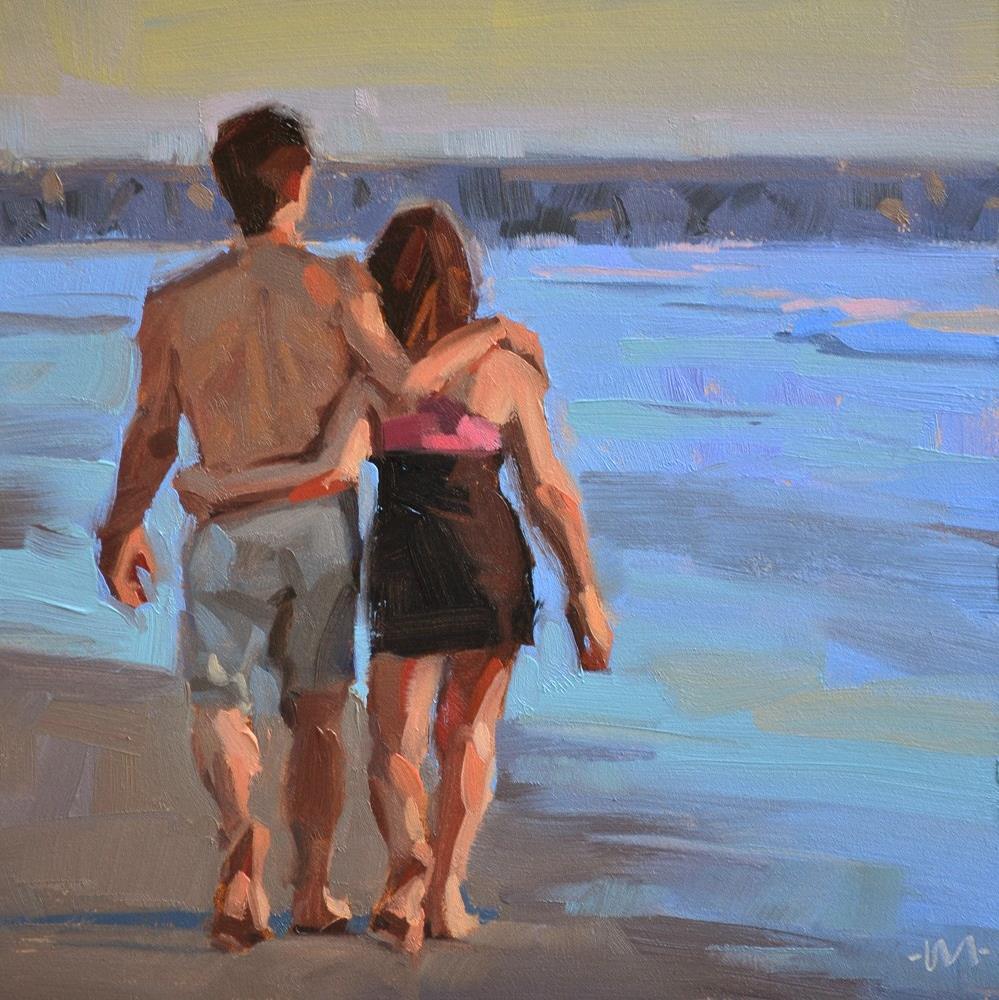 """Sunset Walk"" original fine art by Carol Marine"