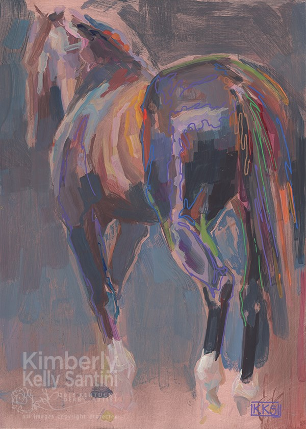 """""""Tiznow, a painting on copper"""" original fine art by Kimberly Santini"""