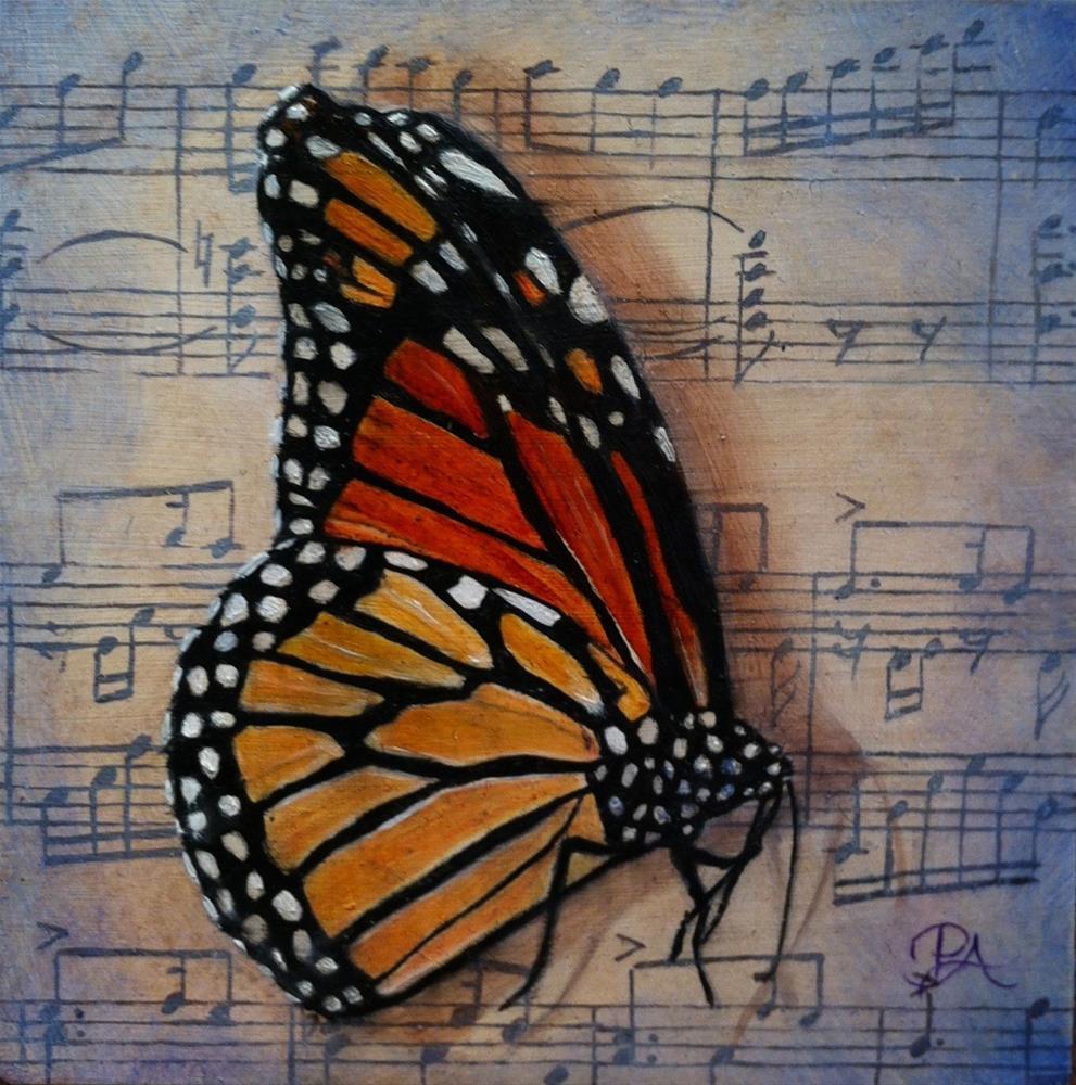 """Insect Music III: Papillons"" original fine art by Patti Adams"