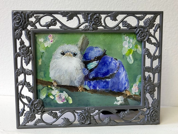 """Splendid Fairy Wren Couple ACEO (mini)"" original fine art by Sunny Avocado"
