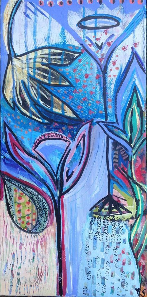 """""""Garden Shower"""" original fine art by Nicole Saunders"""