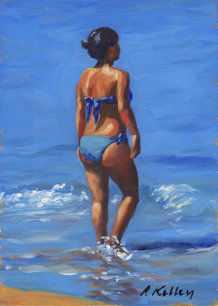 """Beach Study"" original fine art by Pat Kelley"