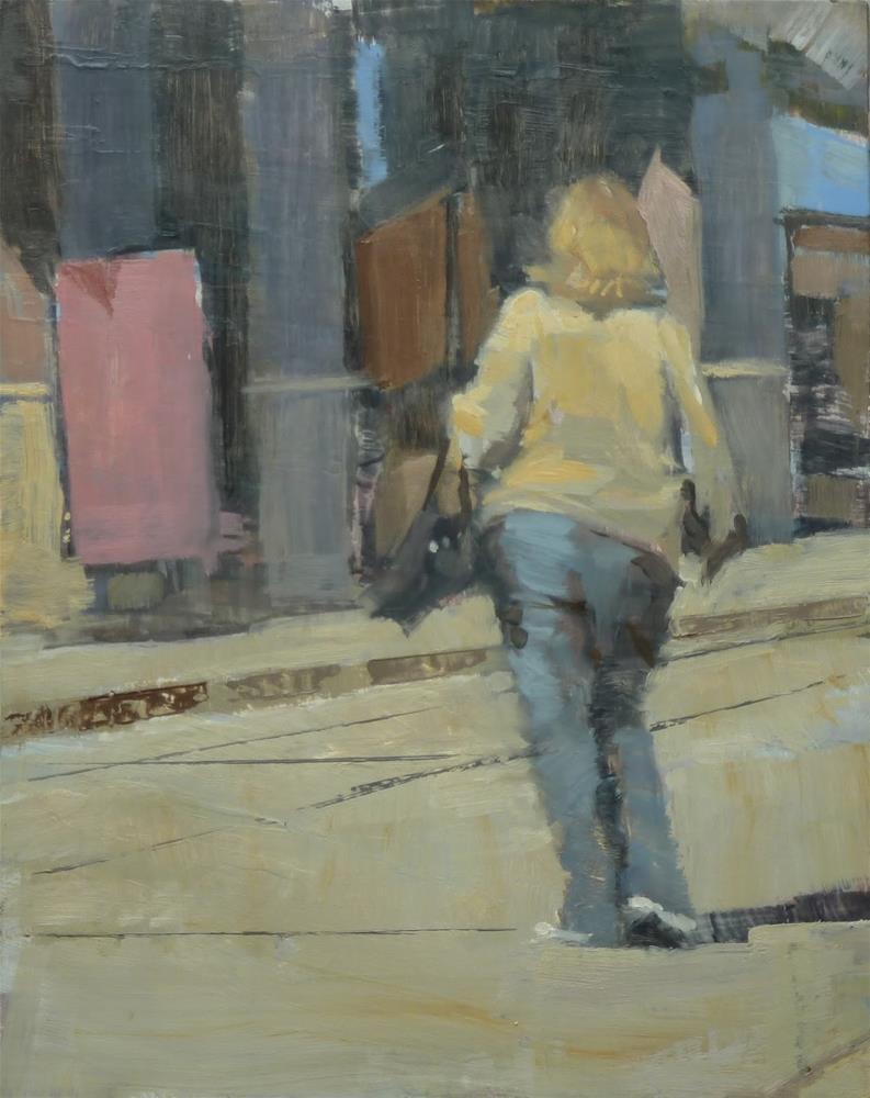 """""""Study - 30% Shopper"""" original fine art by Ron Ferkol"""