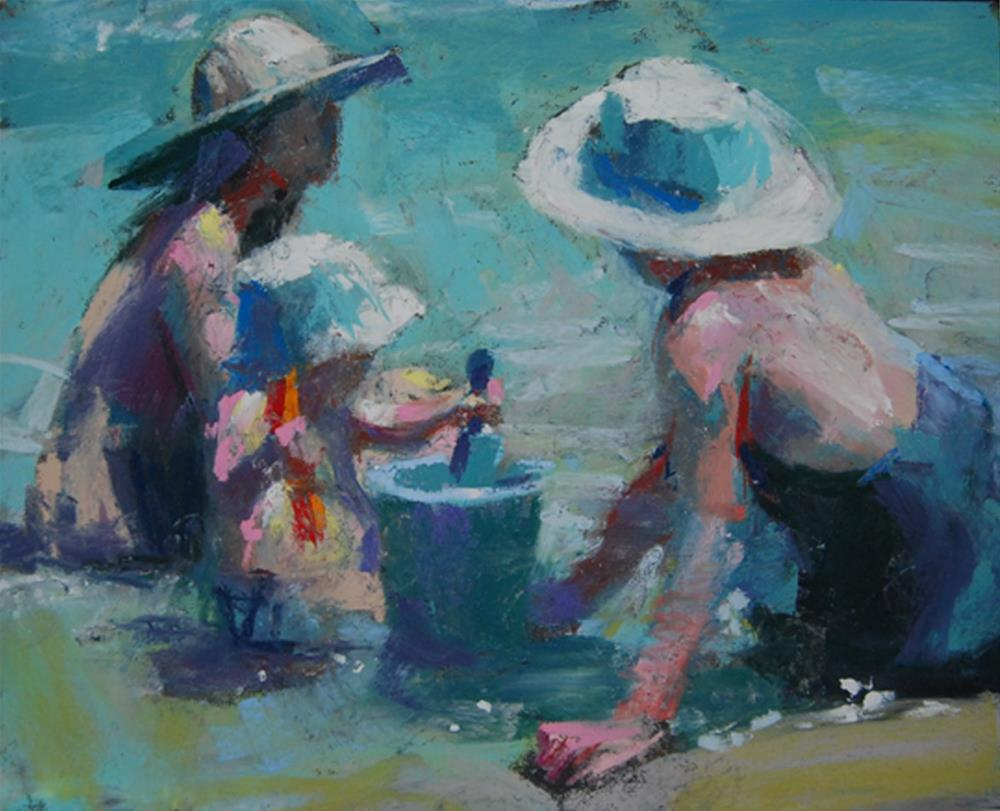 """Red Shovel Blue Shovel"" original fine art by Margaret Dyer"