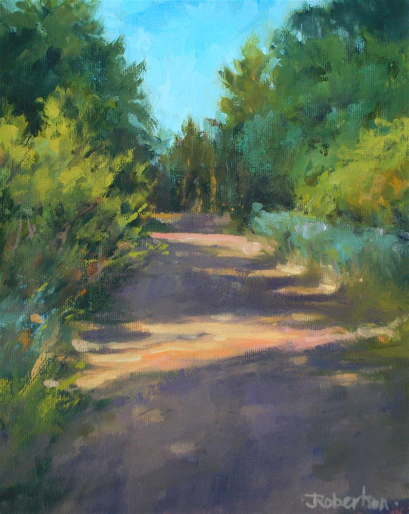 """Sunlit Path"" original fine art by Jane Robertson"