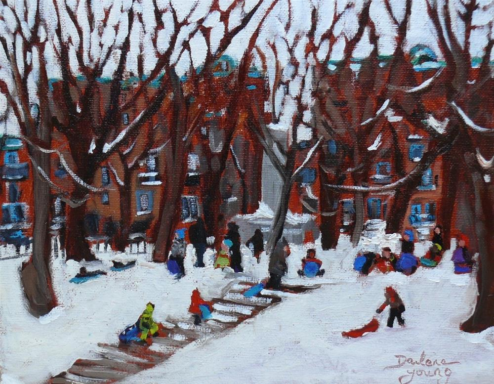 """1066 Parc La Fontaine"" original fine art by Darlene Young"