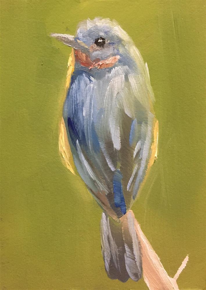 """""""Little Bluebird"""" original fine art by Gary Bruton"""