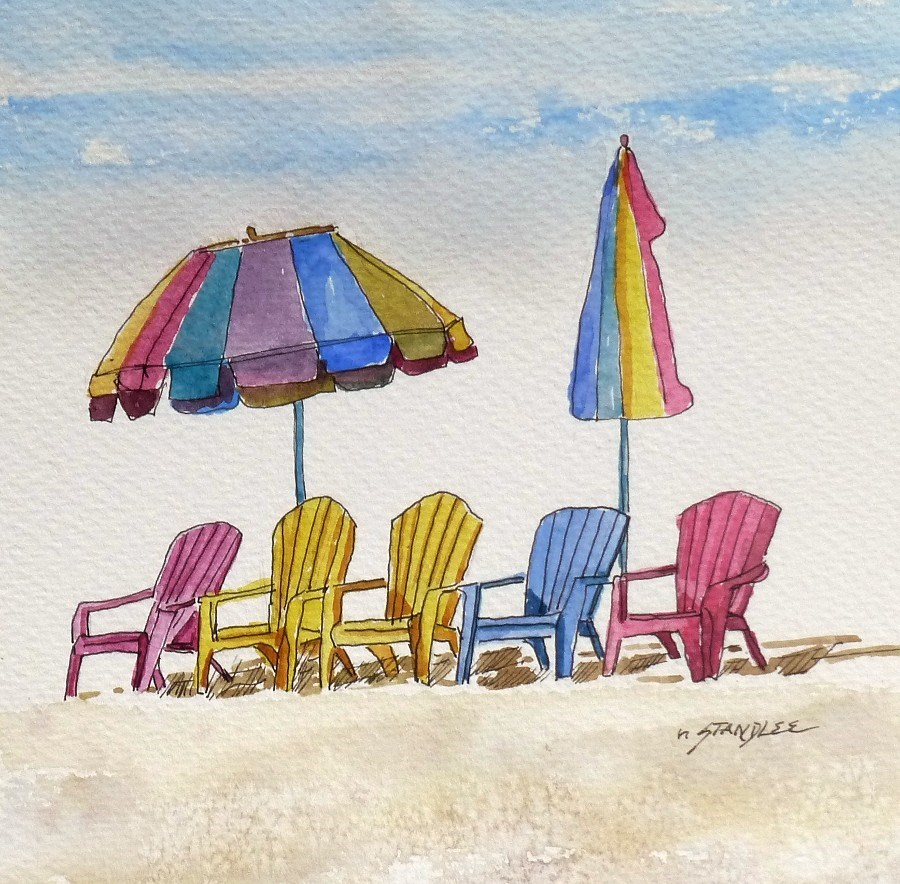 """Chair Precision 13097"" original fine art by Nancy Standlee"