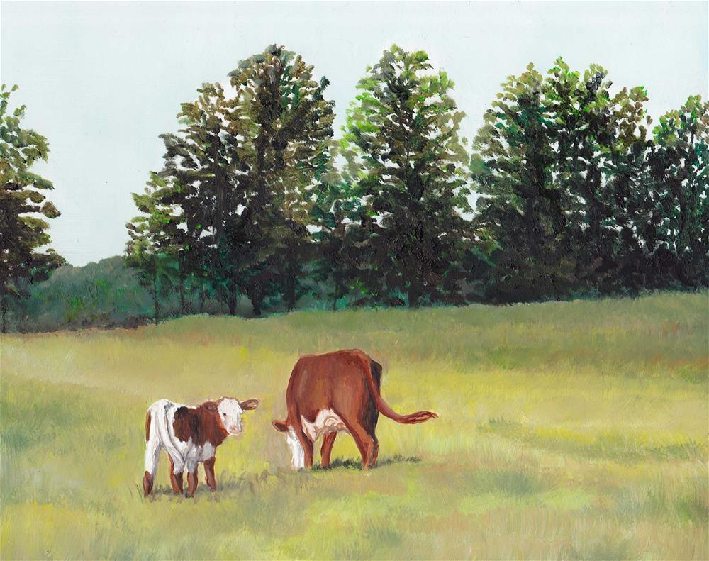 """""""Peaceful Pasture"""" original fine art by Charlotte Yealey"""