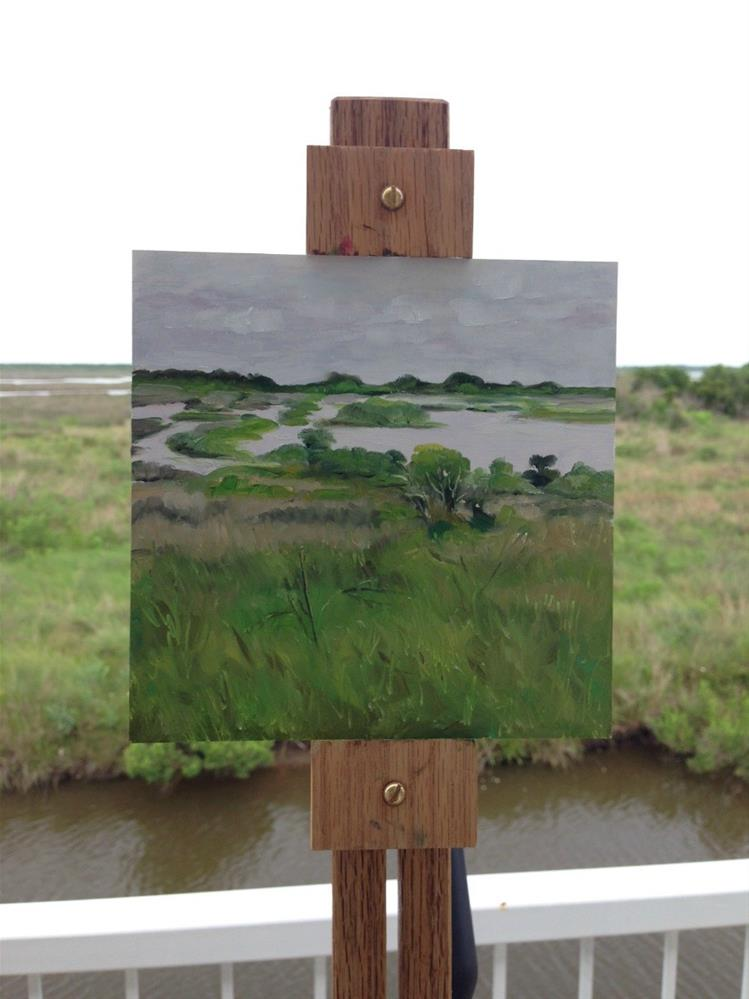"""challenge - sight size marsh"" original fine art by Beth Moreau"