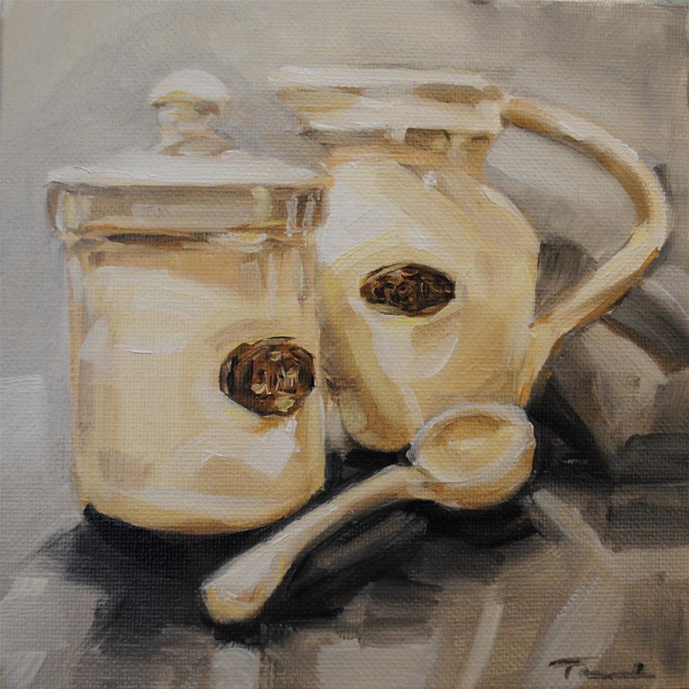 """Cream 037"" original fine art by Tamanda Elia"