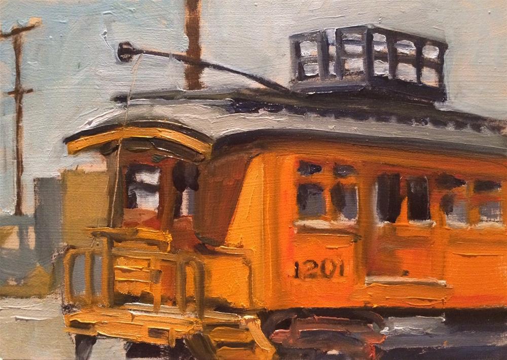 """""""Trolley 1201"""" original fine art by John Tullis"""