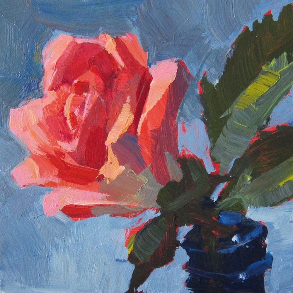 """""""Pink Rose 1"""" original fine art by Patti Mollica"""