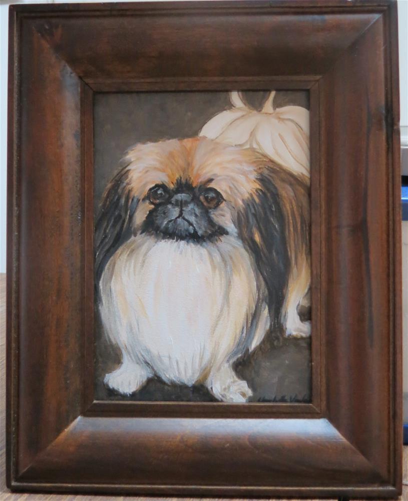 """Pekingese"" original fine art by Charlotte Yealey"