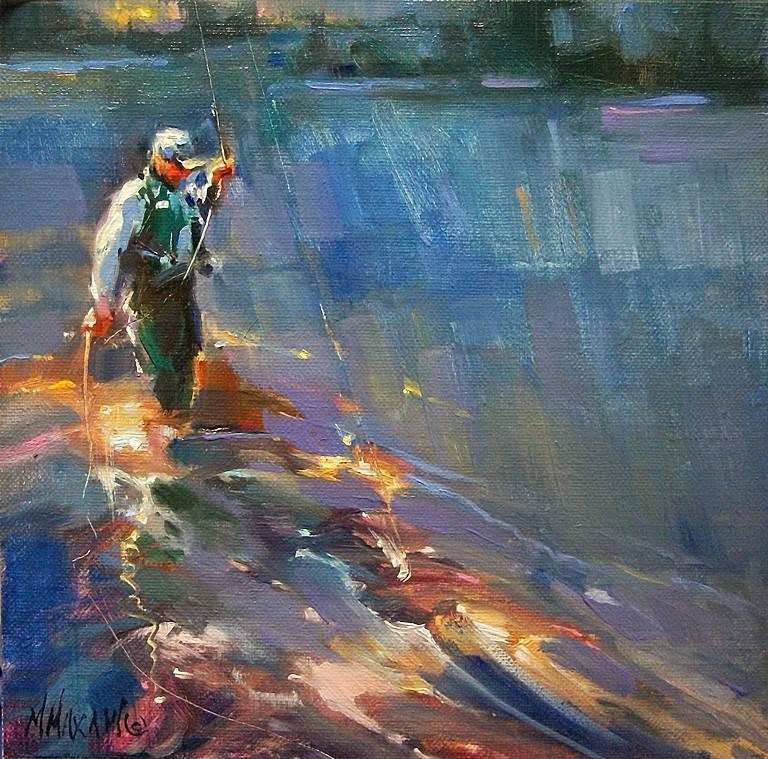 """Catch Of The Day"" original fine art by Mary Maxam"
