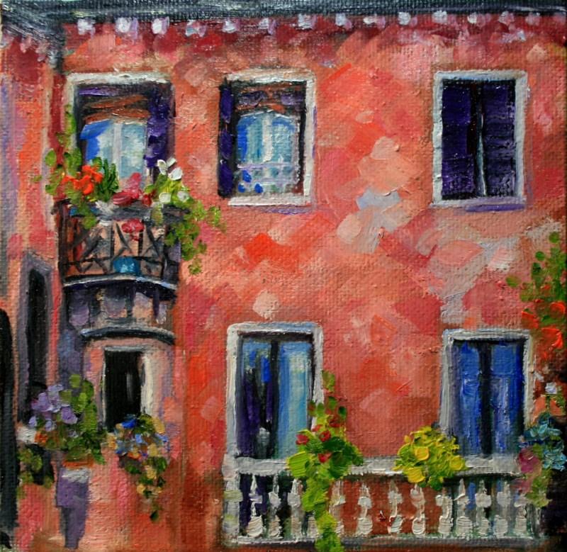 """""""Balconies"""" original fine art by Jean Nelson"""