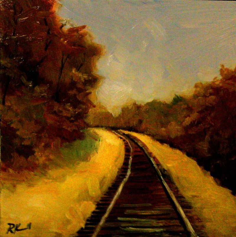 """The Tracks"" original fine art by Bob Kimball"