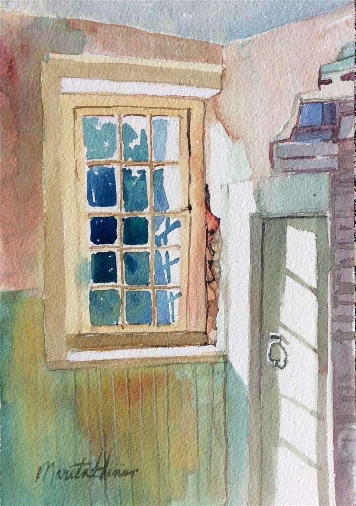 """Ghost House"" original fine art by Marita Hines"
