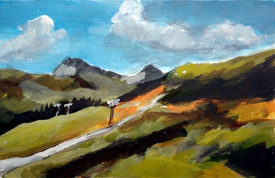 """""""1857 Cattle Drive"""" original fine art by Dietmar Stiller"""