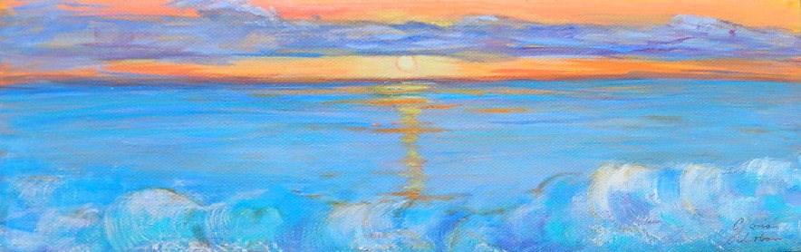 """Sunset #2"" original fine art by Gloria Urban"