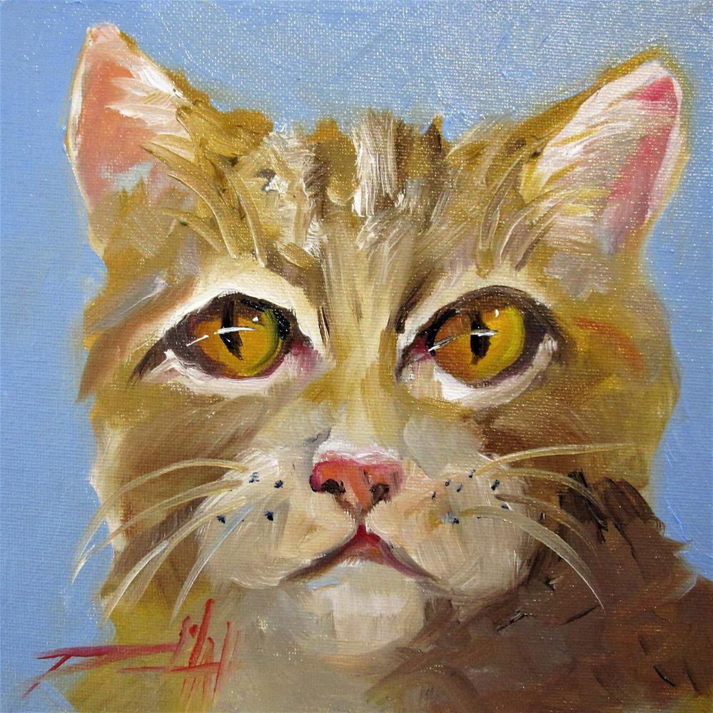 """""""Yellow Cat"""" original fine art by Delilah Smith"""
