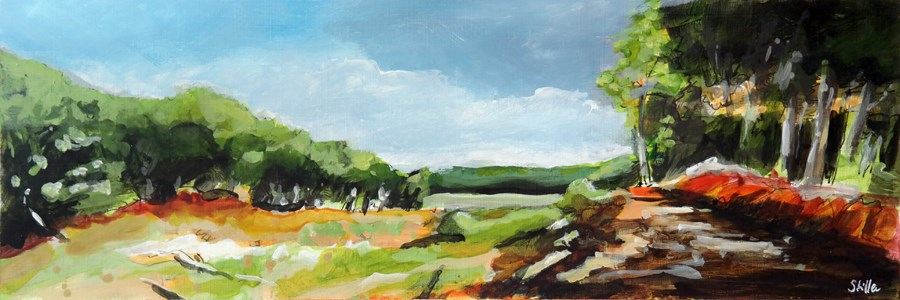 """2483 Acrylic Landscape Sketch IX"" original fine art by Dietmar Stiller"