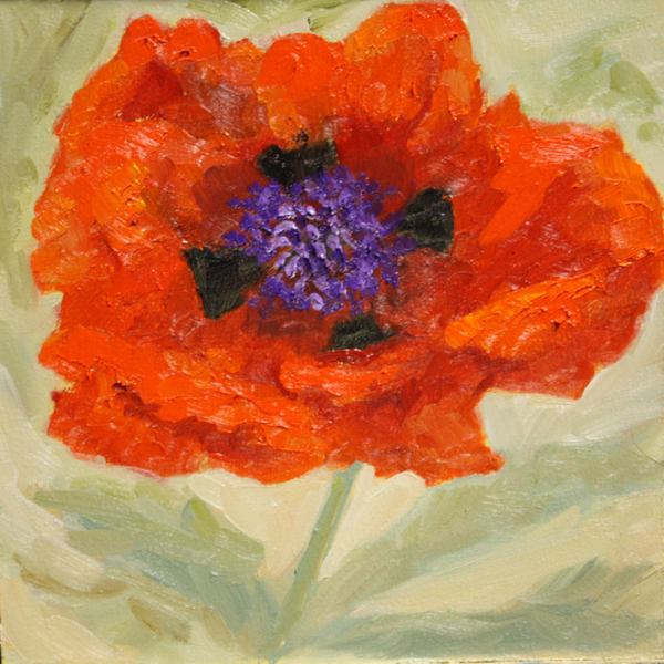 """""""Poppy - Color of the Year Challenge"""" original fine art by Jane Frederick"""