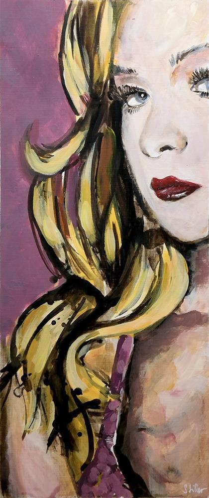 """""""2671 Violetta"""" original fine art by Dietmar Stiller"""