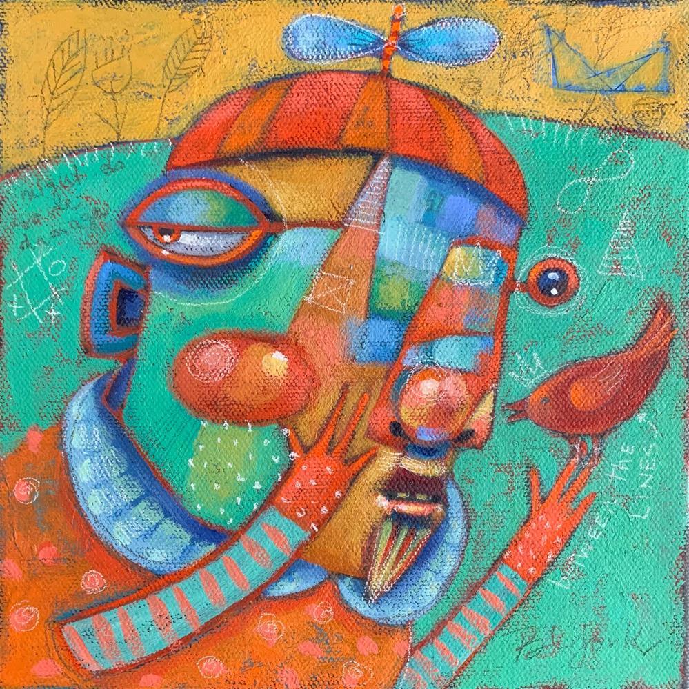 """Tweet L. D., Dark Guardian Of The..."" original fine art by Brenda York"