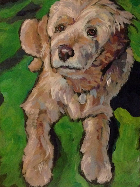 """Rudy!"" original fine art by Kat Corrigan"