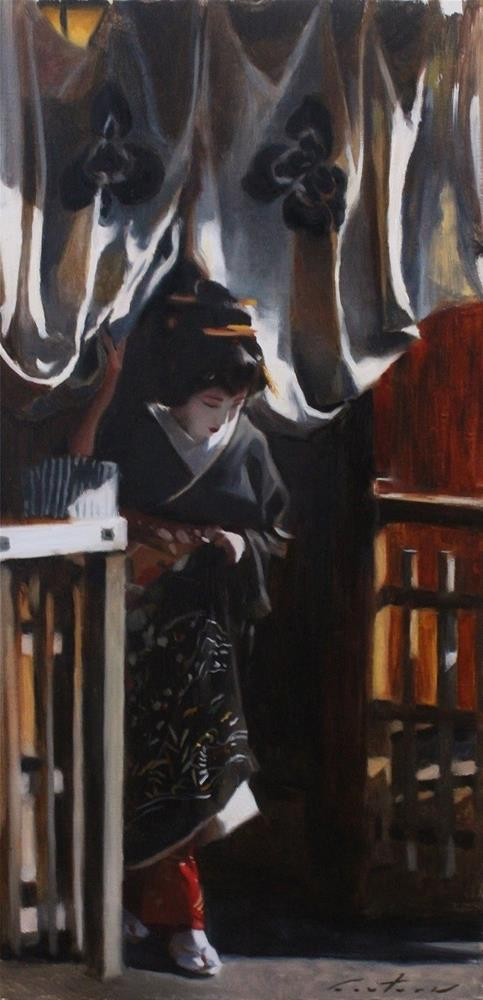 """""""Emerging from a Teahouse"""" original fine art by Phil Couture"""