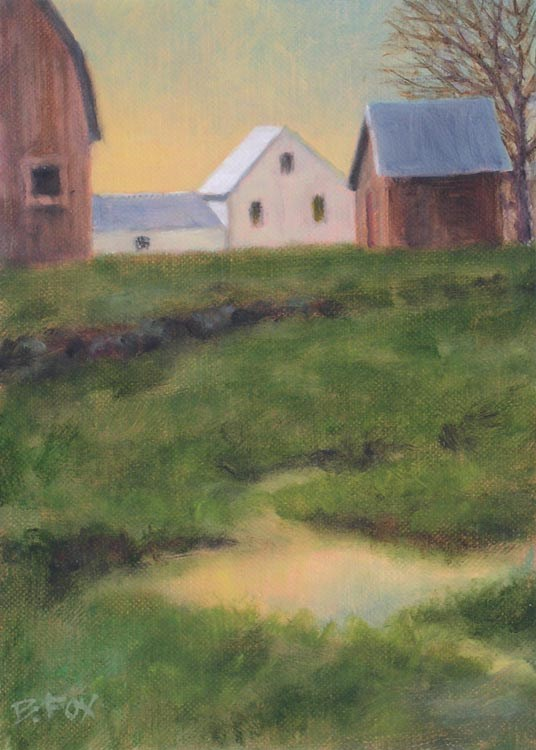"""A Wet Spring"" original fine art by Barbara Fox"