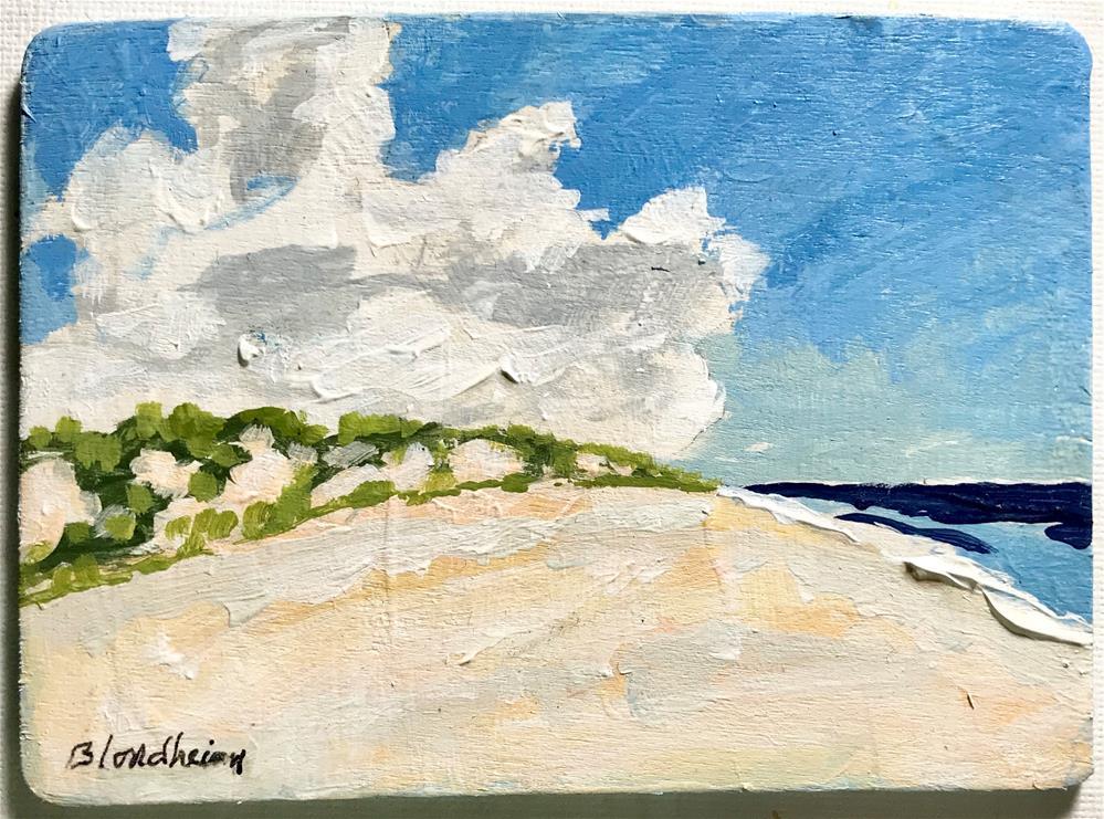 """""""Beach Clouds"""" original fine art by Linda Blondheim"""