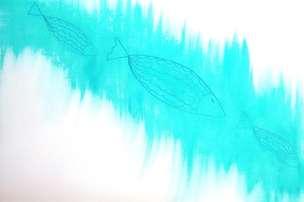 """""""Zen Fish"""" original fine art by Adéla Svobodová"""