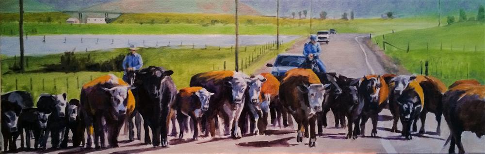 """County Line"" original fine art by John Tullis"