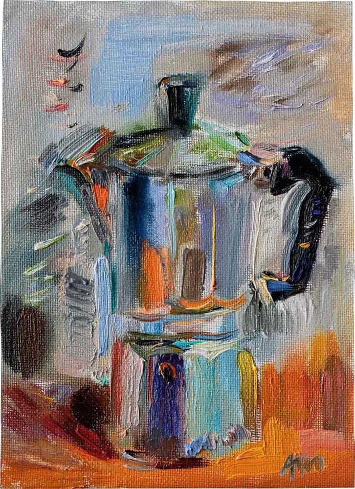 """Coffee Maker"" original fine art by Anna Fine Art"