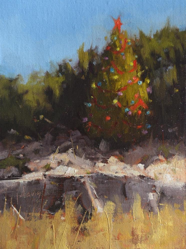"""""""An Austin Christmas"""" original fine art by Julie Davis"""