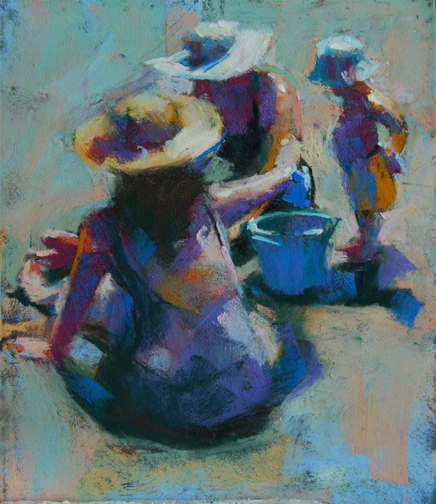 """A Bucket of Sand"" original fine art by Margaret Dyer"