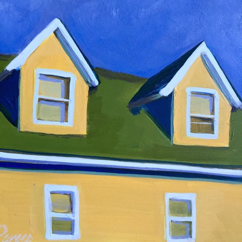 """Duplex Basking"" original fine art by Mary Pargas"