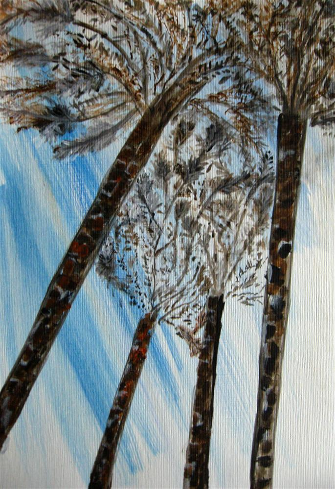 """Looking Up"" original fine art by Alina Frent"