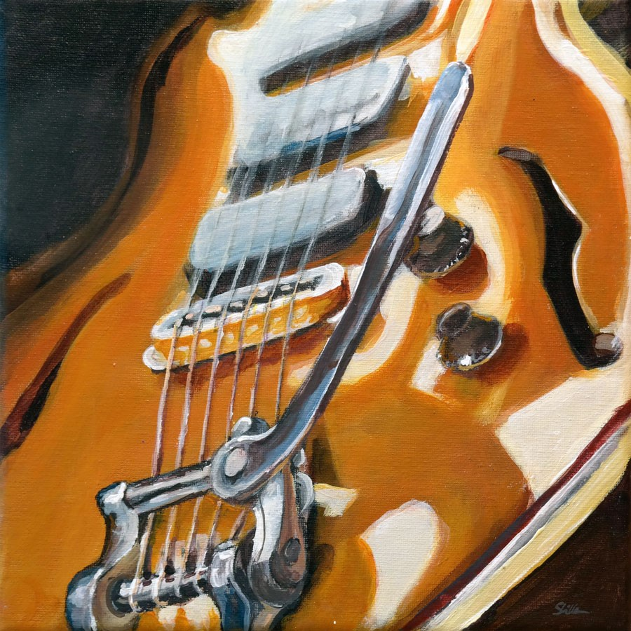 """1108 Bigsby aka Shwengle-Guitar"" original fine art by Dietmar Stiller"